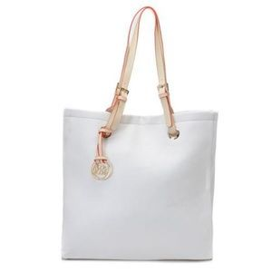 Michael Kors Smooth Outlook Large White w Totes